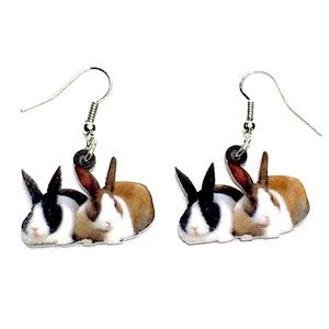 Jewelry - Acrylic Bunnies Earrings